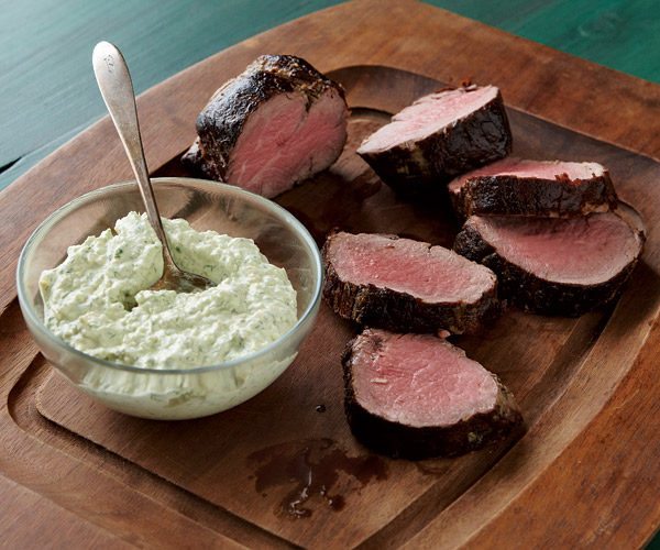 Beef Tenderloin with Cool Horseradish-Dill Sauce ...