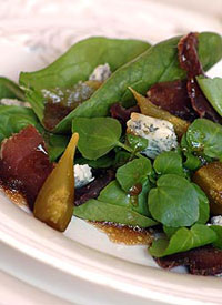 Biltong Salad with Sweet Figs and Blue Cheese
